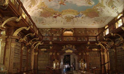 Zdjęcie AUSTRIA / Wachau / Melk / Biblioteka klasztorna