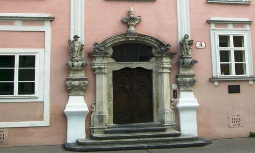 Zdjecie AUSTRIA / Górna Austria / Kerms - wejście do barokowej kamienicy / Barokowe wejście