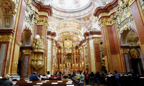 Zdjęcie AUSTRIA / Dolna Austria / Melk / Opactwo w Melk  wnętrze Kościoła