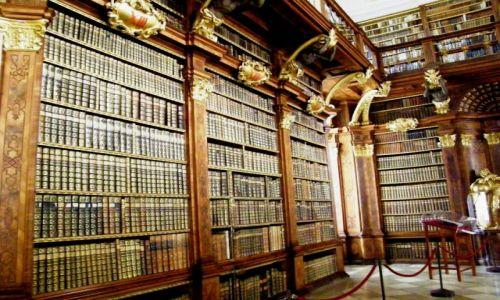 Zdjecie AUSTRIA / Dolna Austria / Melk / Opactwo w Melk biblioteka