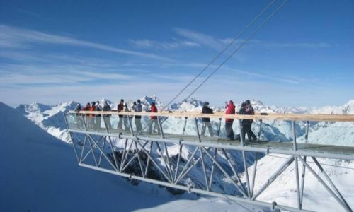 Zdjecie AUSTRIA / - / Soelden / mostek nad lodowcem
