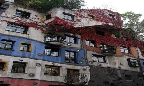 Zdjęcie AUSTRIA / płn-wsch część Austrii / Wiedeń / domy  Hundertwassera