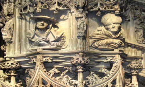 AUSTRIA / płn-wsch część Austrii / Wiedeń / maski - katedra św Szczepana