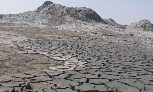 Zdjęcie AZERBEJDżAN / Qobustan / pustynia / jęzor błotny
