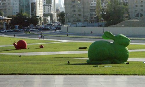 Zdjęcie AZERBEJDżAN / - / Baku / oaza w przestrzeni miasta
