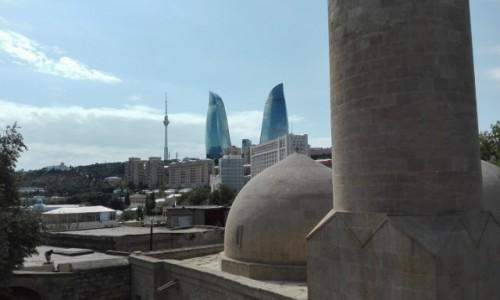 Zdjecie AZERBEJDżAN / stolica / z pałacu Chana / Baku