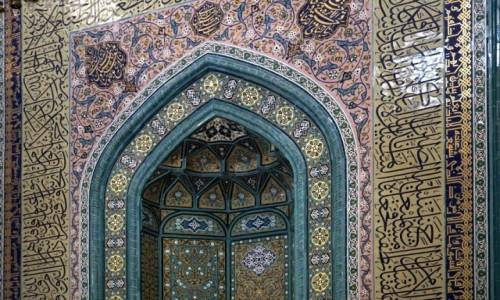Zdjęcie AZERBEJDżAN / Szirwan / Szamachy / Wnętrze meczetu Dżuma w Szamachy