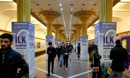 Zdjecie AZERBEJDżAN / - / Baku / Stacja metra w Baku