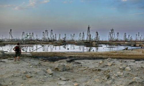 AZERBEJDżAN / Półwysep Abseron / Bibi Ejbat - południowe przedmieścia Baku. / Rybka lubi pływać