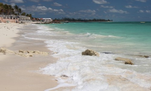 Zdjecie BAHAMY / Grand Bahama / Lucaya Beach / Rajska plaża