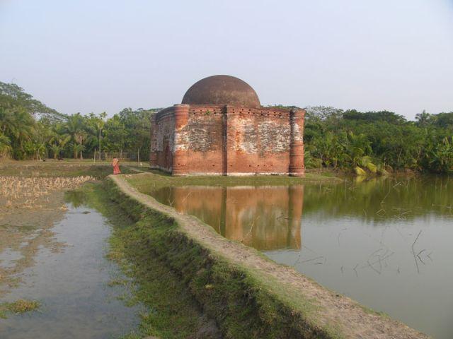 Zdjęcia: Bagerhat, Khulna, Meczet na skraju pola, BANGLADESZ