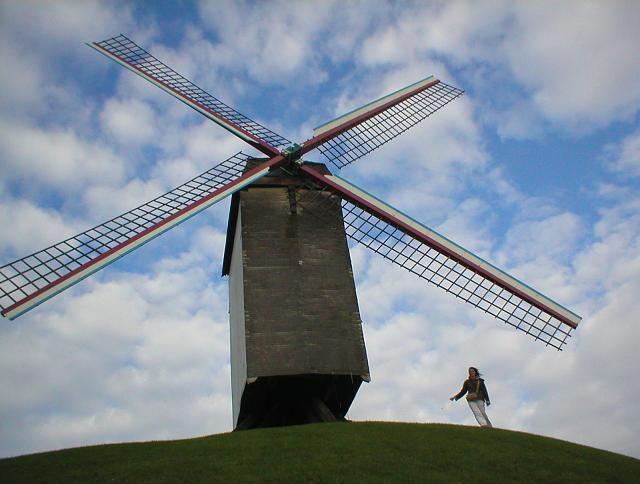 Zdjęcia: Brugia, Wiatrak w Brugii, BELGIA