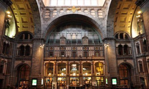 Zdjecie BELGIA / - / Antwerpia / Gmach główny-stacja kolejowa