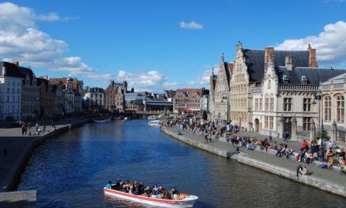 BELGIA / Gand / Gand / Z mostu