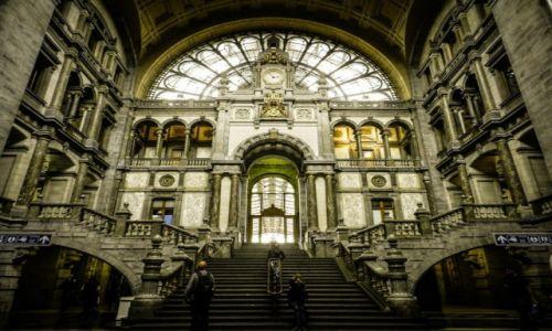 Zdjecie BELGIA / Flandria / Antwerpia / dworzec główny