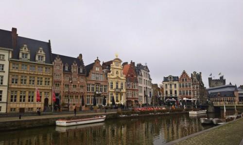 BELGIA / Flandria / Gandawa / Kanały Gandawy