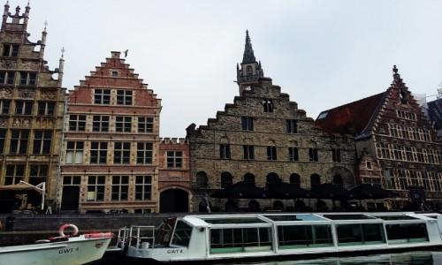 Zdjecie BELGIA / Flandria / Gandawa / Kamieniczki