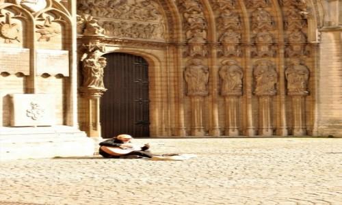 Zdjecie BELGIA / Antwerpia / Pod katedrą / Grajek uliczny