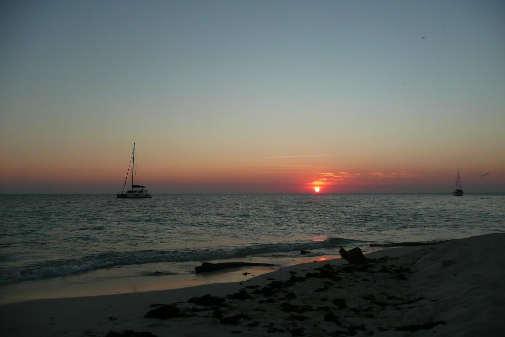 Zdjęcia: przy South Water Cayes, Ameryka Srodkowa, dziń się kończy, BELIZE