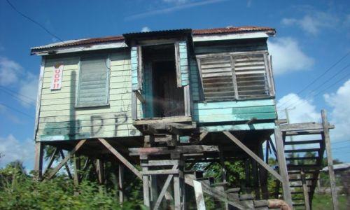 BELIZE / - / okolice Orange Walk / typowy domek wiejski z Belize