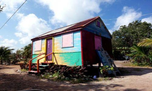 Zdjęcie BELIZE / brak / Gales Point / kreolski domek na wybrzezu
