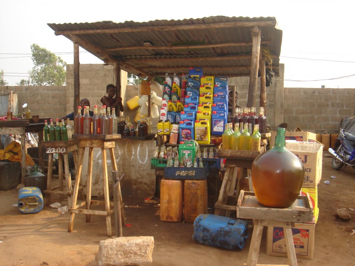 Zdjęcia: Przy granicy z Togo, Stacja benzynowa, BENIN