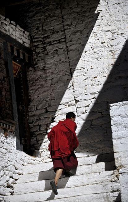Zdjęcia: Jeden z klasztorów w Bhutanie, Azja, W stronę światła..., BHUTAN