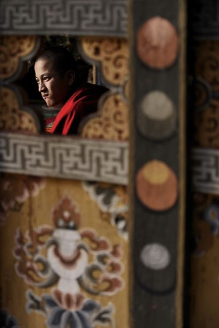 Zdjęcia: Jeden z klasztorów w Bhutanie, Azja, Przez dziurkę nie od klucza..., BHUTAN