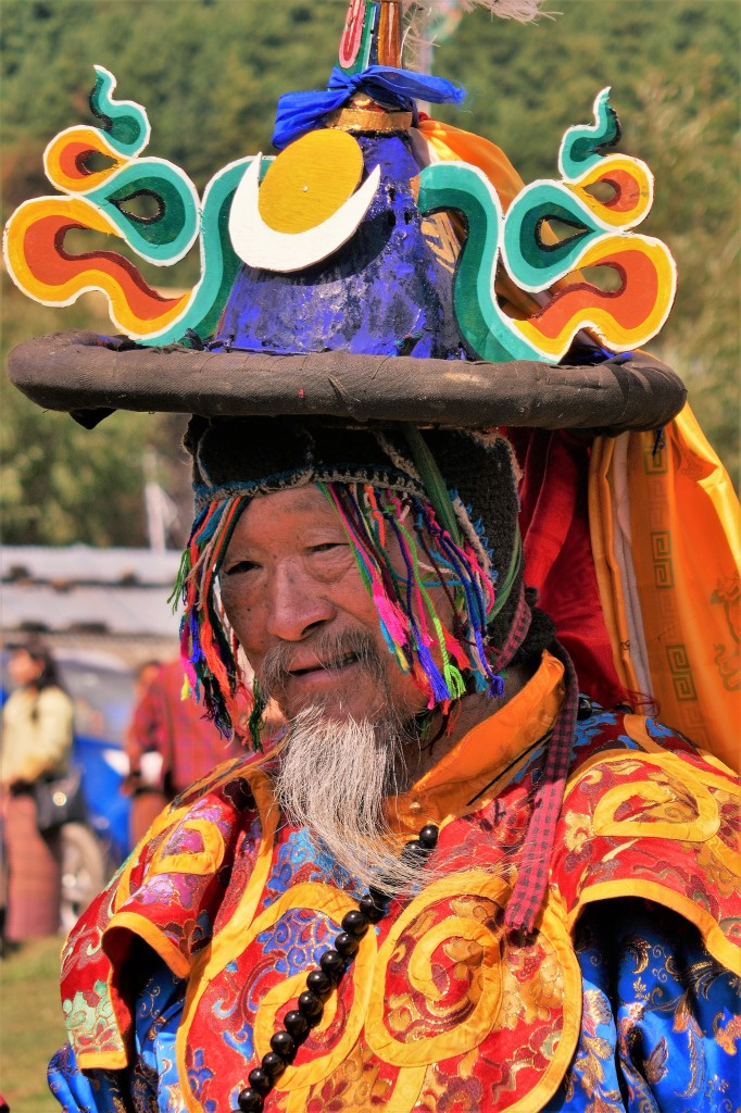 Zdjęcia: Tangbi Lhakhang, Bumthang, Tangbi Mani - główny tancerz, BHUTAN