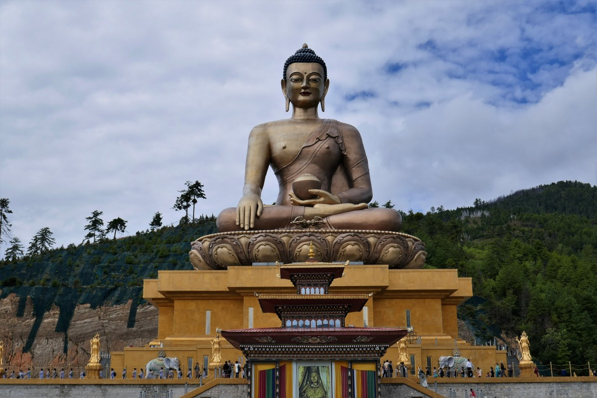 Zdjęcia: Zbocze góry nad Thimphu, Thimphu, Wielki Budda spogląda na Thimphu ze zbocza góry, BHUTAN