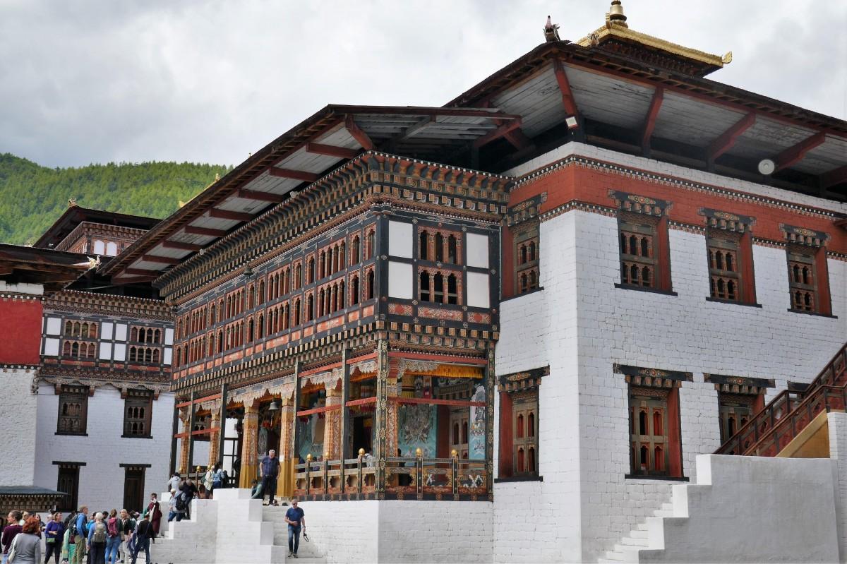 Zdjęcia: Dziedziniec dzongu, Thimphu, Dzong w Thimphu , BHUTAN