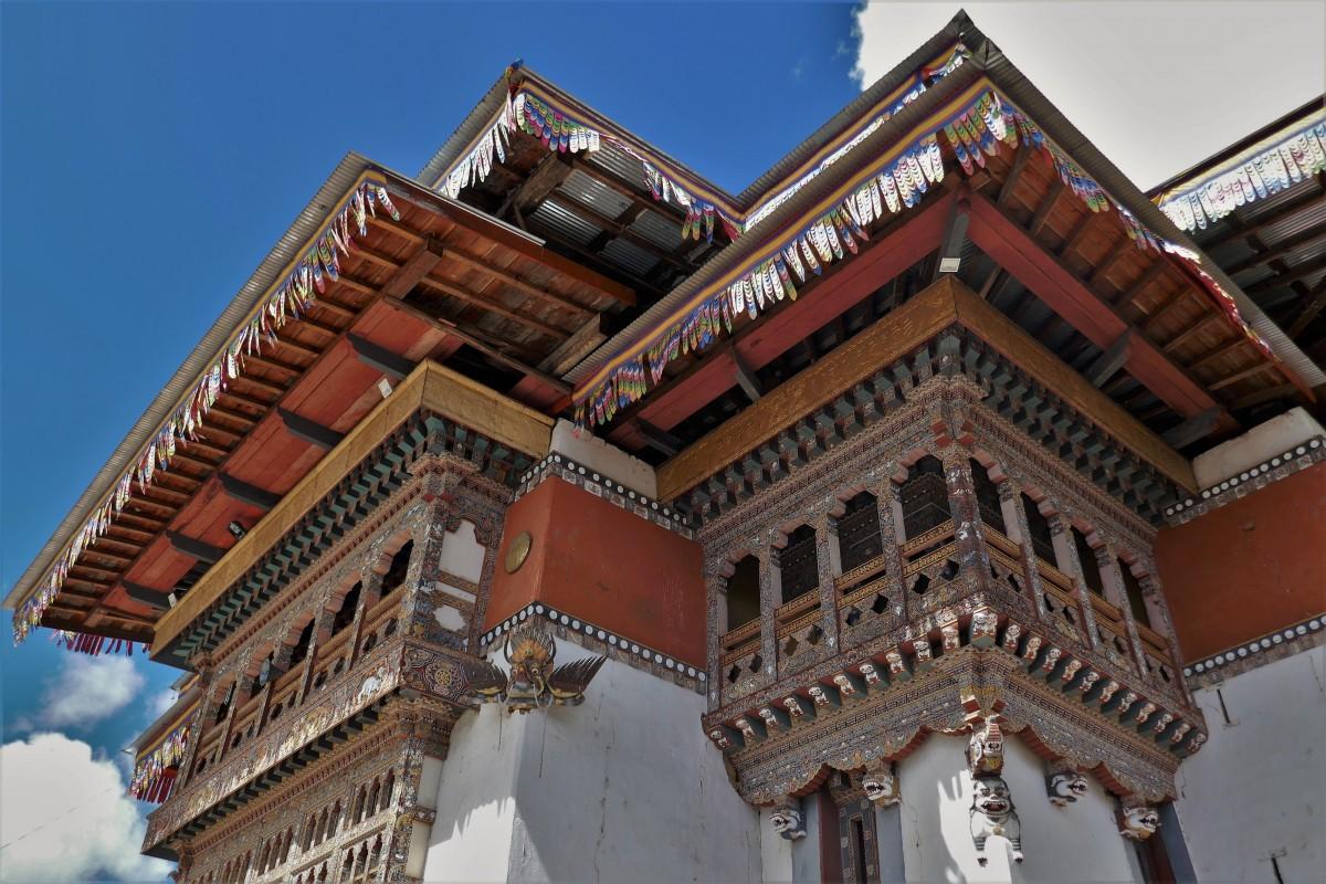 Zdjęcia: Gangtey Monastery, Dystrykt Wangdue, Gangtey Monastery - największy prywatny klasztor w Bhutanie, BHUTAN