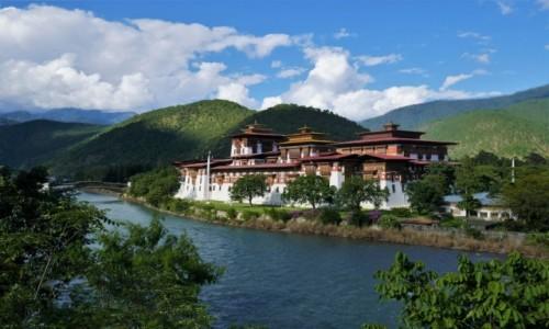 BHUTAN / Punakha / Dzong Punakha / Najpiękniejszy dzong w Bhutanie