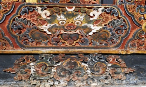 BHUTAN / Punakha / Dzong: klasztor- twierdza / Dzong Punakha - detale