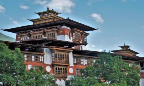 BHUTAN / Punakha / Dzong: klasztor- twierdza / Dzong Punakha zachwyca architekturą