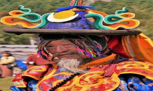 BHUTAN / Bumthang / Tangbi Lhakhang / Tangbi Mani - główny tancerz