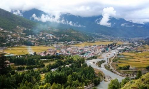 Zdjęcie BHUTAN / Paro / Widok z dzongu  / Dolina Paro