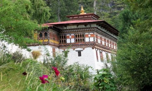 BHUTAN / Paro / Dzong: klasztor- twierdza / Dzong Paro