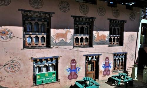 Zdjecie BHUTAN / Bhutan środkowy / Knajpka gdzieś po drodze / Jeszcze kilka bhutańskich domków