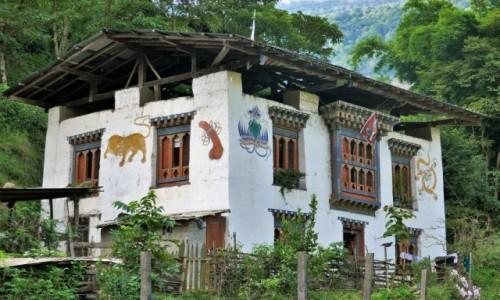 Zdjecie BHUTAN / Bumthang / Gdzieś po drodze / Jeszcze kilka bhutańskich domków