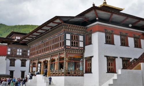 Zdjecie BHUTAN / Thimphu / Dziedziniec dzongu / Dzong w Thimphu