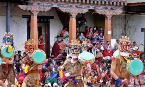 Zdjecie BHUTAN / Dystrykt Wangdue / Gangtey Monastery / Gangtey Tsechu