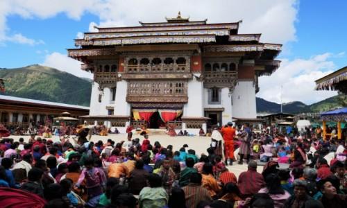 Zdjecie BHUTAN / Dystrykt Wangdue / Gangtey Monastery / Gangtey Monastery podczas festiwalu