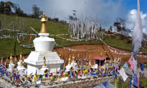 Zdjecie BHUTAN / Himalaje / Jedna z himalajskich przełęczy / Na przełęczy