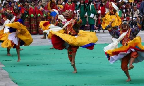 Zdjecie BHUTAN / Thimpu / Festiwal / Bajecznie kolorowy Thimpu Tsechu