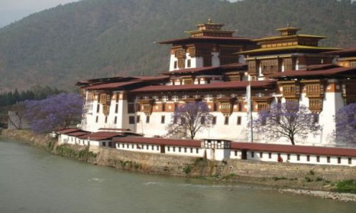 Zdjecie BHUTAN / brak / Punakha / Klaszto w Punakha - Punkha Dzong
