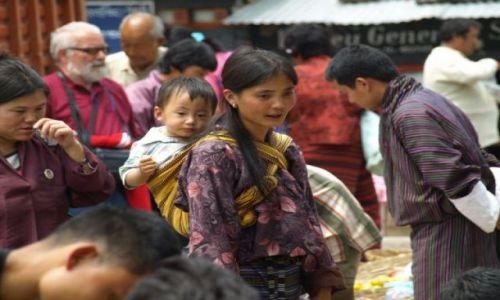 Zdjęcie BHUTAN / brak / Bhutan Środkowy / Rynek. Ludność handluje płodami rolnymi.