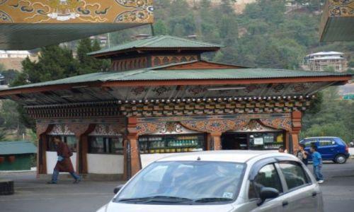 Zdjęcie BHUTAN / brak / Thimphu / Stylowa stacja benzynowa