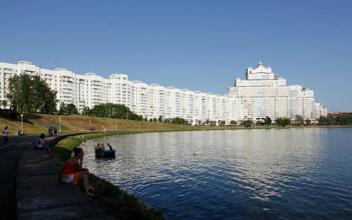 Zdjęcia: Mińsk, Świsłocz w centrum Mińska, BIAłORUś