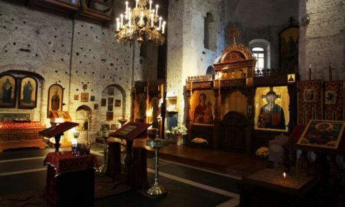 BIAłORUś / Grodno / Cerkiew pw. św. Borysa i Gleba z XII w. / Wnętrze cerkwi